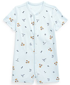 Ralph Lauren Baby Boys Bear-Print Interlock Polo Shortall