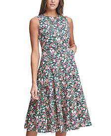Cottage Garden Cotton Midi Dress
