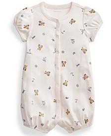 Ralph Lauren Baby Girls Polo Bear Interlock Shortall