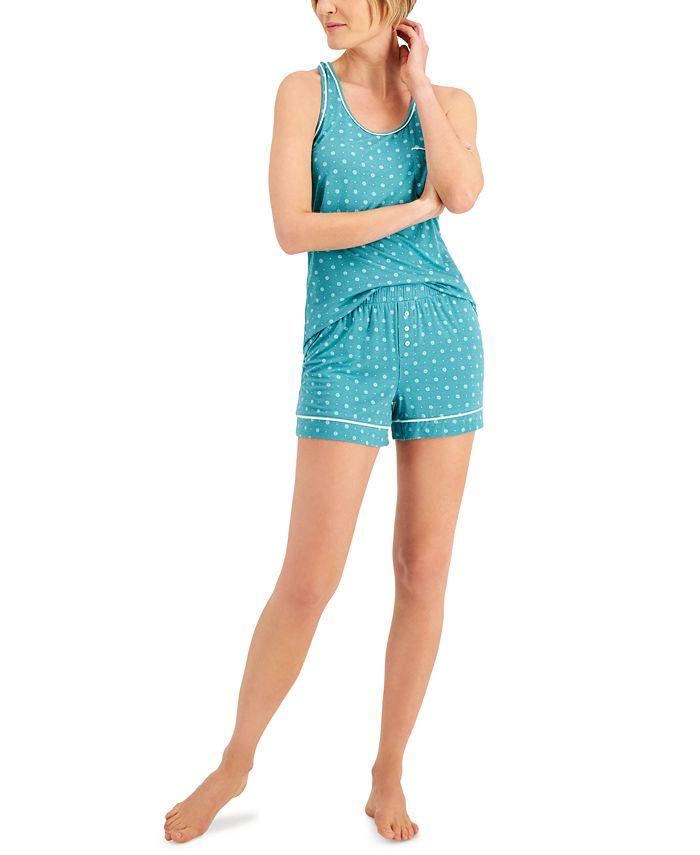 Alfani - Piping Trim Tank & Shorts Pajama Set