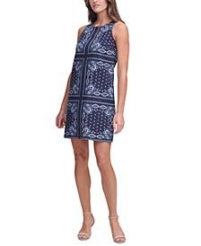 Bandana-Print Sheath Dress