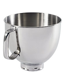 KitchenAid K5THSBP Artisan 5 Qt. Polished Stainless Steel Stand Mixer Bowl