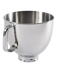 KitchenAid K5THSBP Artisan 5 Qt. Polished Stainless Steel Stand Mixer Bowl
