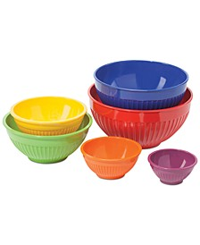 6-Pc. Melamine Mixing Bowl Set in Assorted Colors