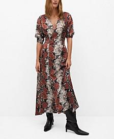 Women's Snake Print Gown