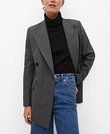 Women's Pinstripe Suit Blazer