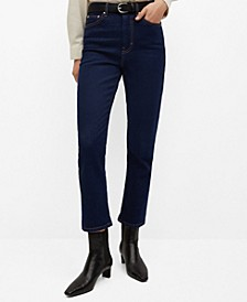 Women's High Waist Straight Jeans