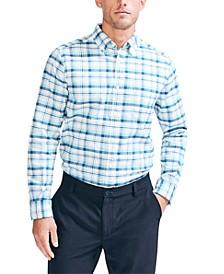 Men's Classic Fit Oxford Button-Down Plaid Shirt
