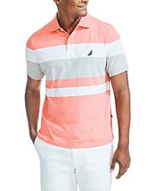 Men's Classic Fit Striped Polo Shirt