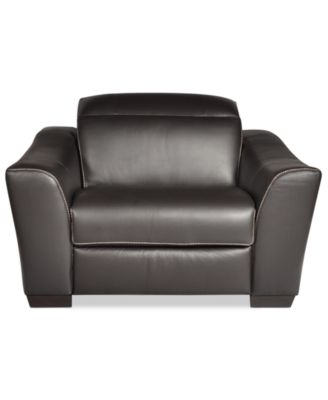 Alessandro Leather Power Reclining Chair, Created For Macyu0027s   Furniture    Macyu0027s