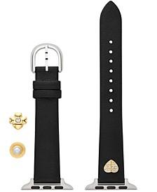 Charm Box Black Leather Apple Watch® Strap