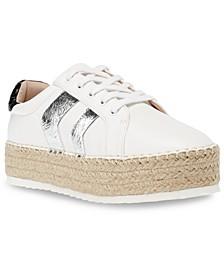 Bianka Flatform Espadrille Chevron Sneakers