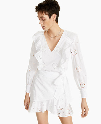 Cotton Ruffled Eyelet Top, Created for Macy's