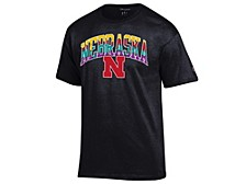 Nebraska Cornhuskers Men's Neon Vault Arch & Logo T-Shirt