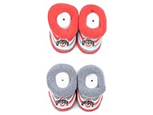 Infant Ohio State Buckeyes Striped Baby Booties, 2-pk.