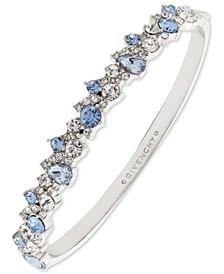 Silver-Tone Crystal Cluster Bangle Bracelet