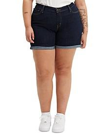 Trendy Plus Size New Denim Shorts