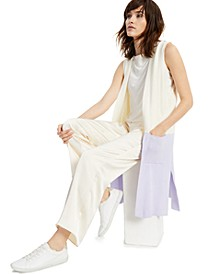Colorblock Open-Front Sleeveless Cardigan, Created for Macy's