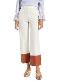 Petite Straight-Leg Colorblocked Pants, Created for Macy's