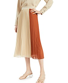 Colorblocked Pleated Skirt, Created for Macy's
