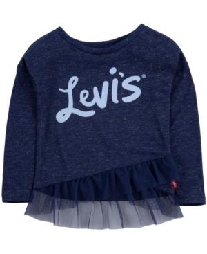 Levi's Tunics BIG GIRLS RUFFLED TUNIC T-SHIRT