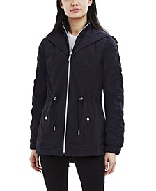 Hooded Bibbed Water-Resistant Anorak Raincoat