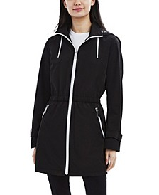 Hooded Water-Resistant Anorak Raincoat