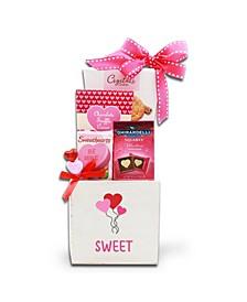 Sweet Wood Box Gift Basket