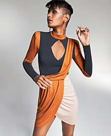 Zerina Akers for Colorblocked Mini Dress, Created for Macy's