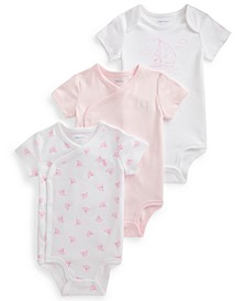 Ralph Lauren Baby Girls Nautical 3-Piece Bodysuit Set