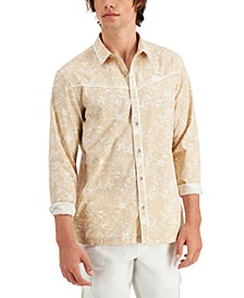 Men's Regular-Fit Piped Floral-Print Shirt, Created for Macy's