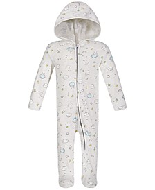 Baby Boys Cloud-Print Cotton Coverall, Created for Macy's