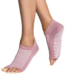 Women's Open Toe Grip Sock for Pilates Barre Yoga Flow