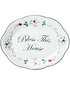 "Winterberry ""Bless This House"" Platter"