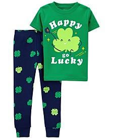 Toddler Boys or Girls 2 Piece Set Patrick's Day Snug Fit Pajama