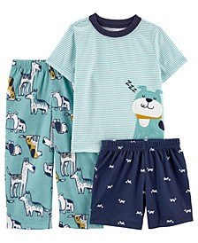 Toddler Boys 3 Piece Dogs Loose Fit Pajama Set