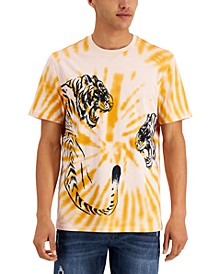 Men's Tie-Dye Tiger Print T-Shirt, Created for Macy's