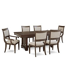 Stafford 7 Pc. Dining Set (Dining Table, 4 Side Chairs & 2 Arm Chairs), Created for Macy's