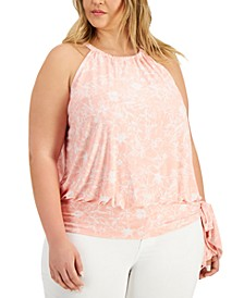 INC Plus Size Halter Top, Created for Macy's