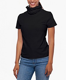 Short-Sleeve Top & Attached Face Mask, Created for Macy's