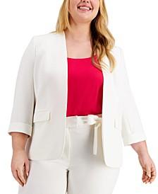 Plus Size 3/4-Sleeve Blazer, Created for Macy's
