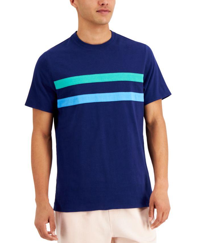 INC International Concepts INC Men's Stripe Appliqué T-Shirt, Created for Macy's  & Reviews - T-Shirts - Men - Macy's