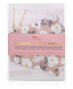 Lovely Face Mask & Gold Chain Holder 2pc Set