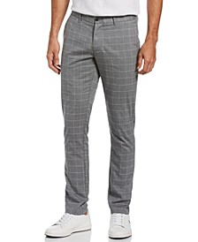 Men's Slim-Fit Stretch Windowpane Check Chino Pants