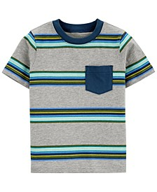 Toddler Boys Striped Pocket Jersey Tee