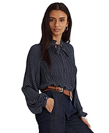 Micro-Pleated Georgette Top
