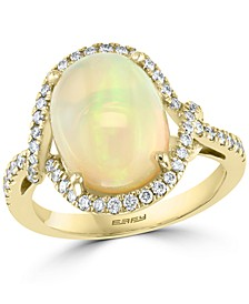EFFY® Opal (2-7/8 ct. t.w.) & Diamond (3/8 ct. t.w.) Ring in 14k Gold