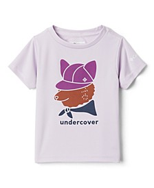 Little and Big Girls Petit Pond Graphic Short Sleeves T-shirt