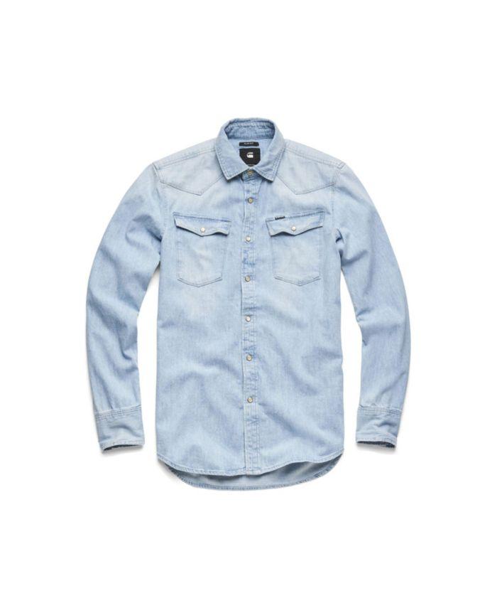G-Star Raw Men's Long Sleeve Slim Shirt & Reviews - Casual Button-Down Shirts - Men - Macy's