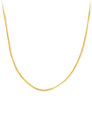 """Fine Link Adjustable 18"""" Chain Necklace in 18k Gold"""